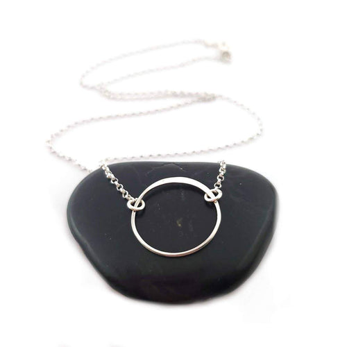 CY Design Studio Hammered Circle Charm Necklace