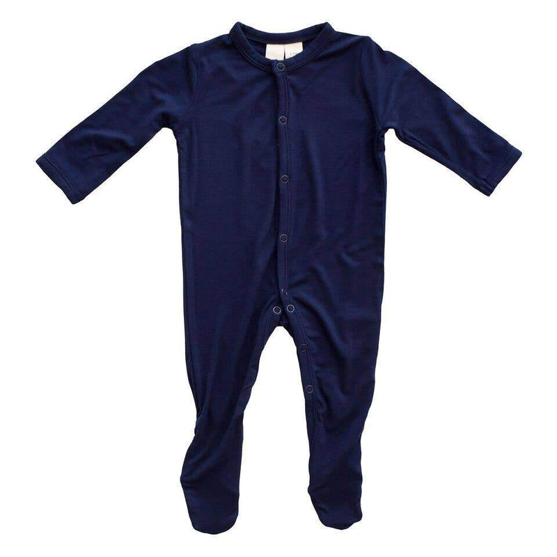 Kyte BABY Solid Bamboo Footie Navy