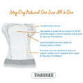 Thirsties Stay Dry Natural All In One - One Size