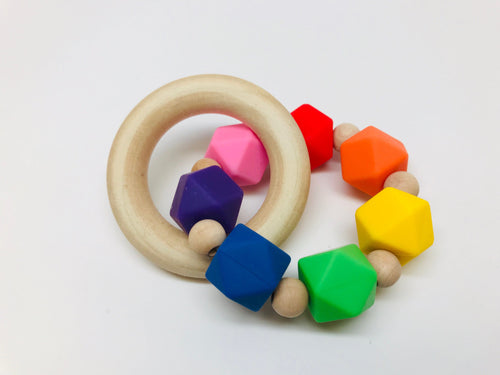 The Chewy Baby Co Silicone Wood Teething Toys