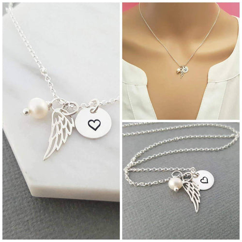 CY Design Studio Angel Wings Necklace Silver