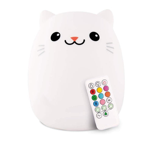 Lumipets Rechargable Color Changing Night Light Kitty