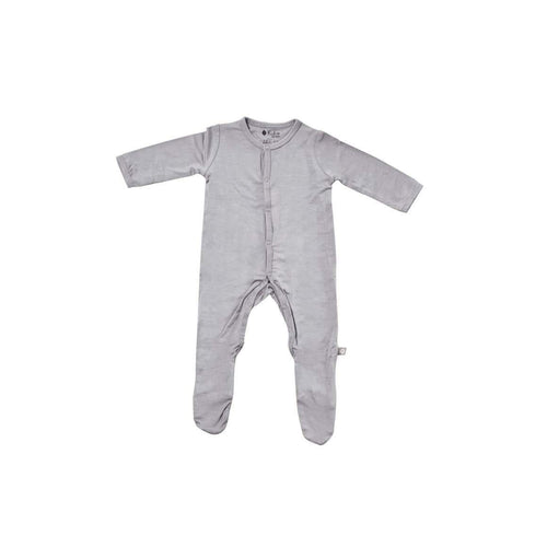 Kyte BABY Solid Bamboo Footie Graphite