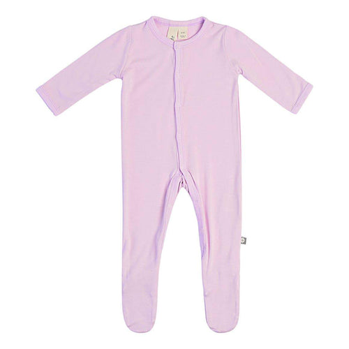 Kyte BABY Solid Bamboo Footie Mauve