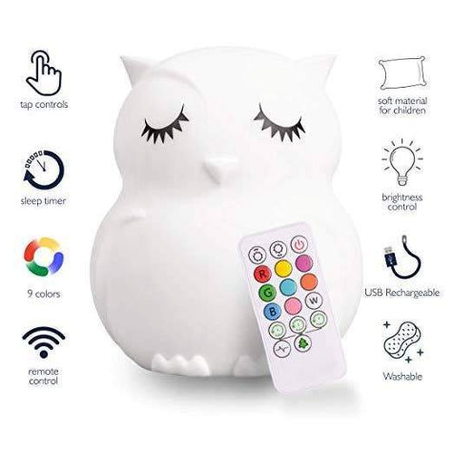 Lumipets Rechargable Color Changing Night Light Owl