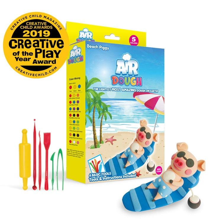 Beach Piggy Air Dough Kit by Scentco
