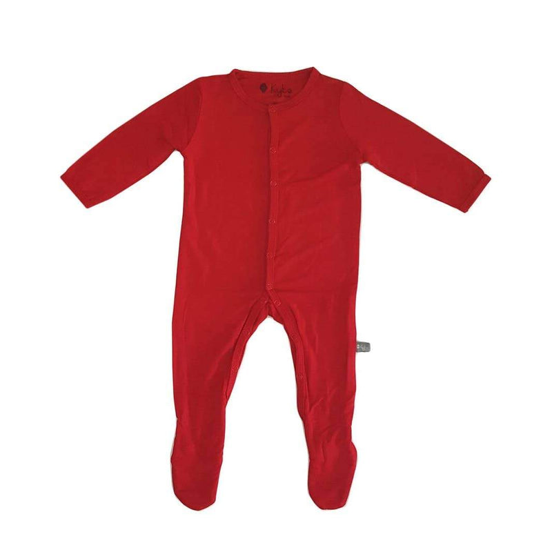 Kyte BABY Solid Bamboo Footie Crimson