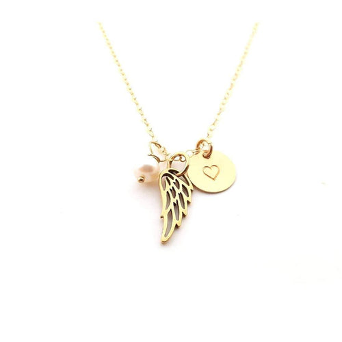 CY Design Studio Angel Wings Necklace Gold