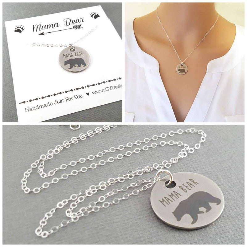 CY Design Studio Mama Bear Necklace