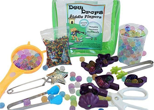 Sensory4u Dew Drops Fiddle Fingers Sensory Bin Kit