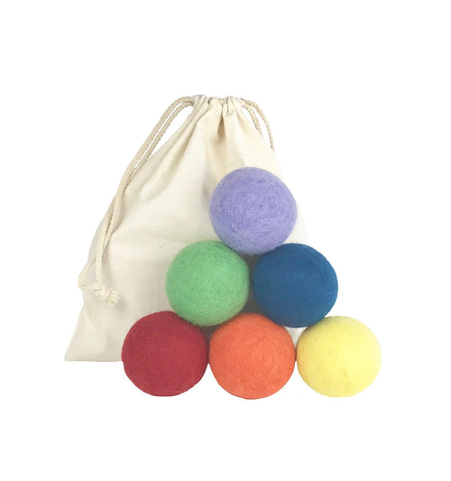 Luludew Rainbow Wool Dryer Balls (set of 6)