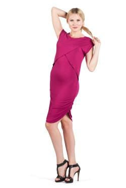 Miami Maternity and Nursing Ruched Mini Dress Savi Mom