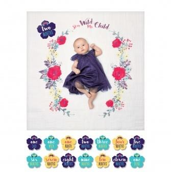 Baby's First Year Blanket and Card Set by Lulujo