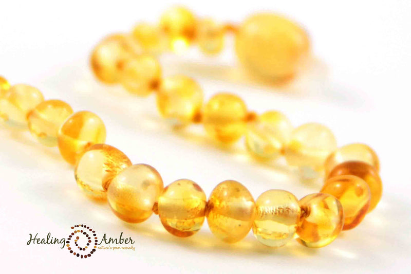 Baltic Amber Healing Necklace - Infant Size 11""