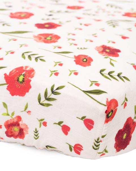 Cotton Muslin Crib Sheet by Little Unicorn