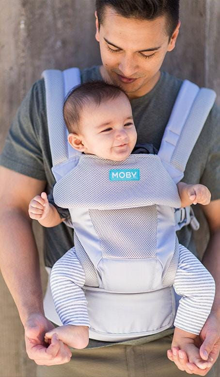 Grey Moby Move Soft Structured Carrier