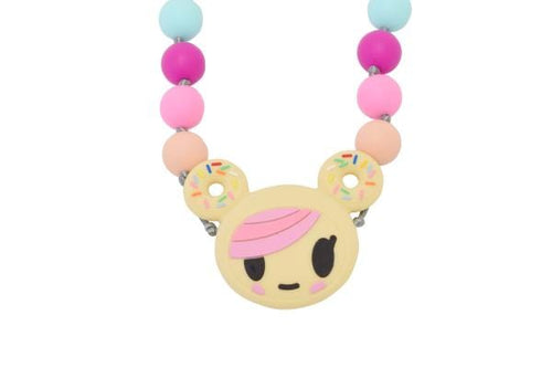 Itzy Ritzy x Tokidoki Donutella Pendant Teething Necklace