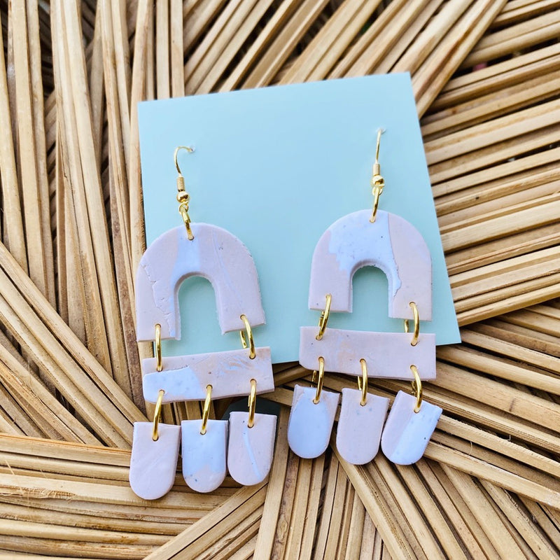 The Hudson Clay Earring