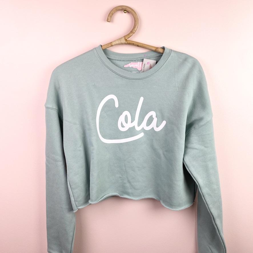 Cola Cropped Sweatshirt