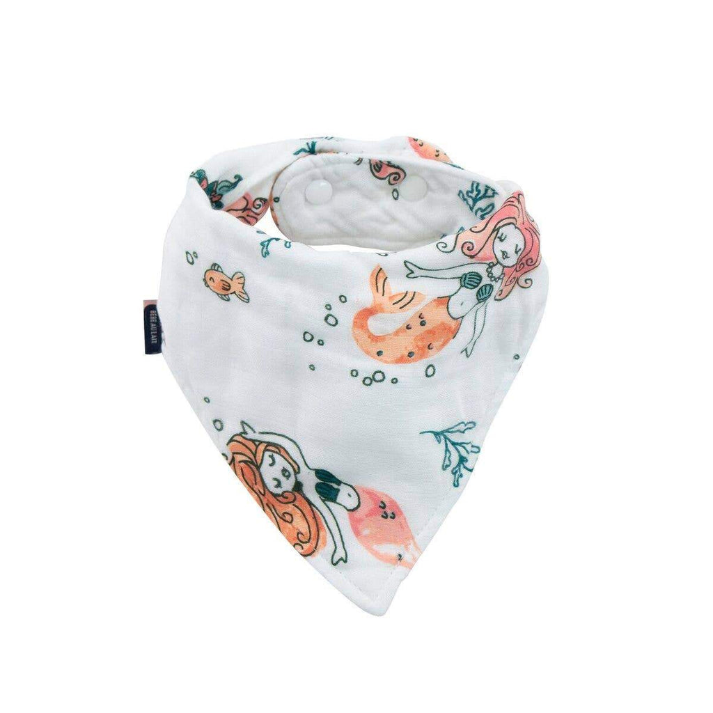 Mermaid Oh-So-Soft Muslin Bandana Bib - CLT Boutique