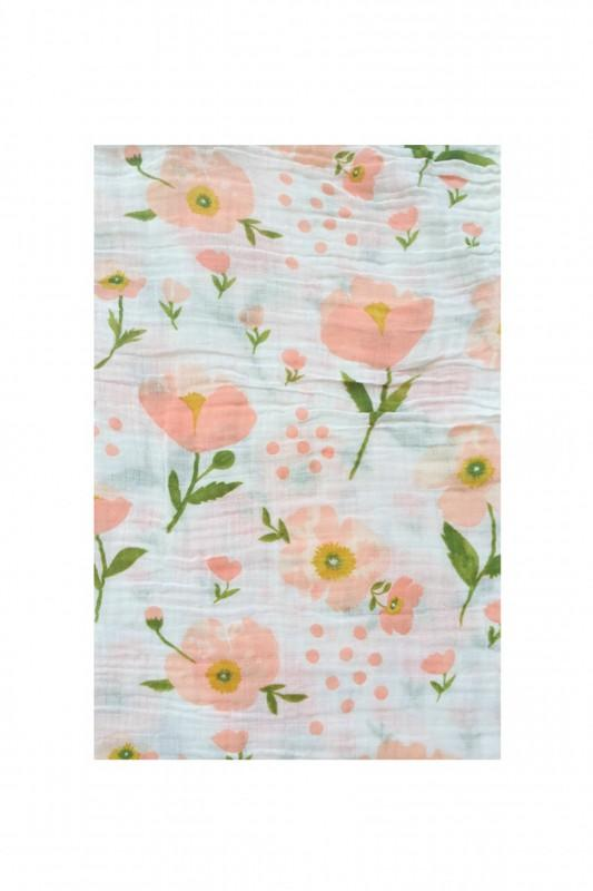 Spring Flowers Swaddle Blanket - CLT Boutique