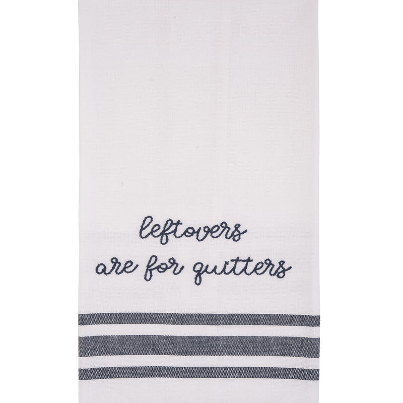 Leftovers Embroidered Tea Towel