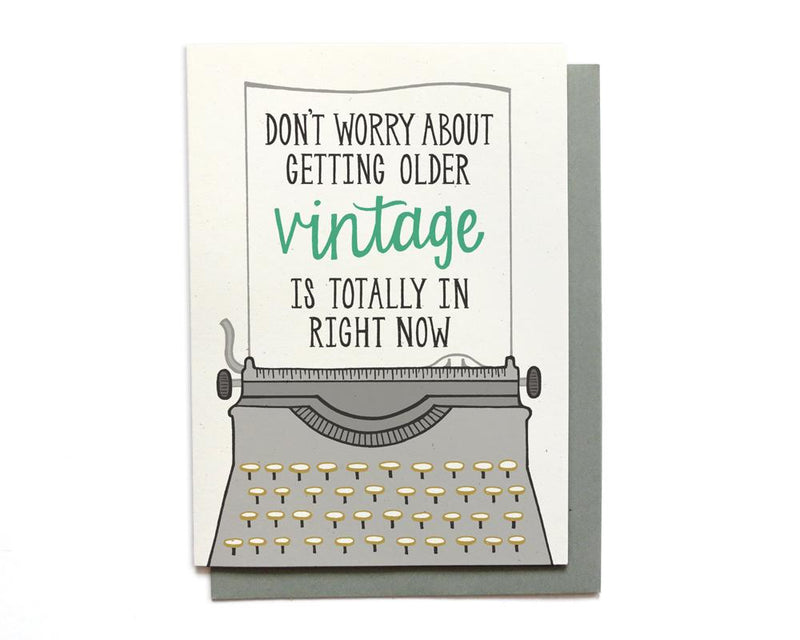 Vintage is In Birthday Card - CLT Boutique