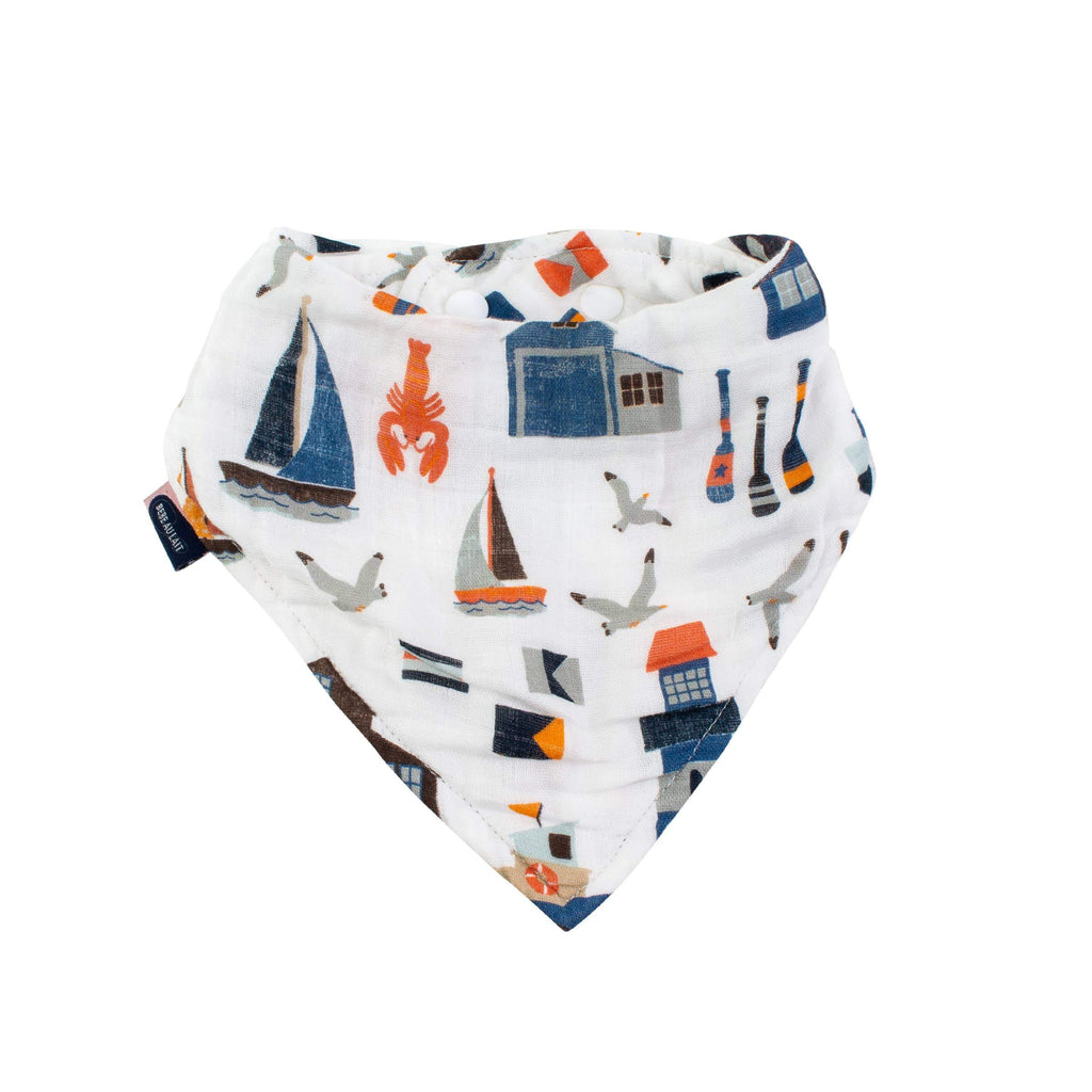 Nautical Oh-So-Soft Muslin Bandana Bib - CLT Boutique