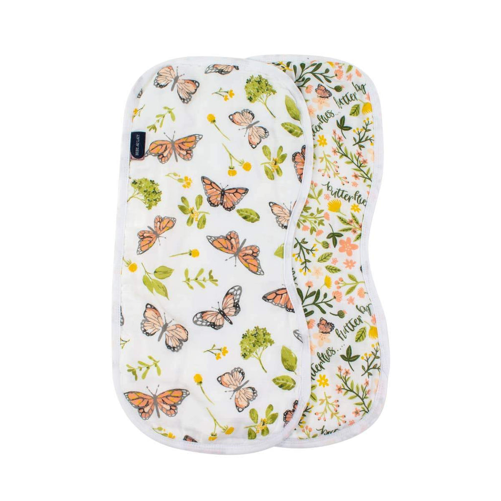 Butterfly + Flutterby Oh-So-Soft Muslin Burp Cloths (2 pack)