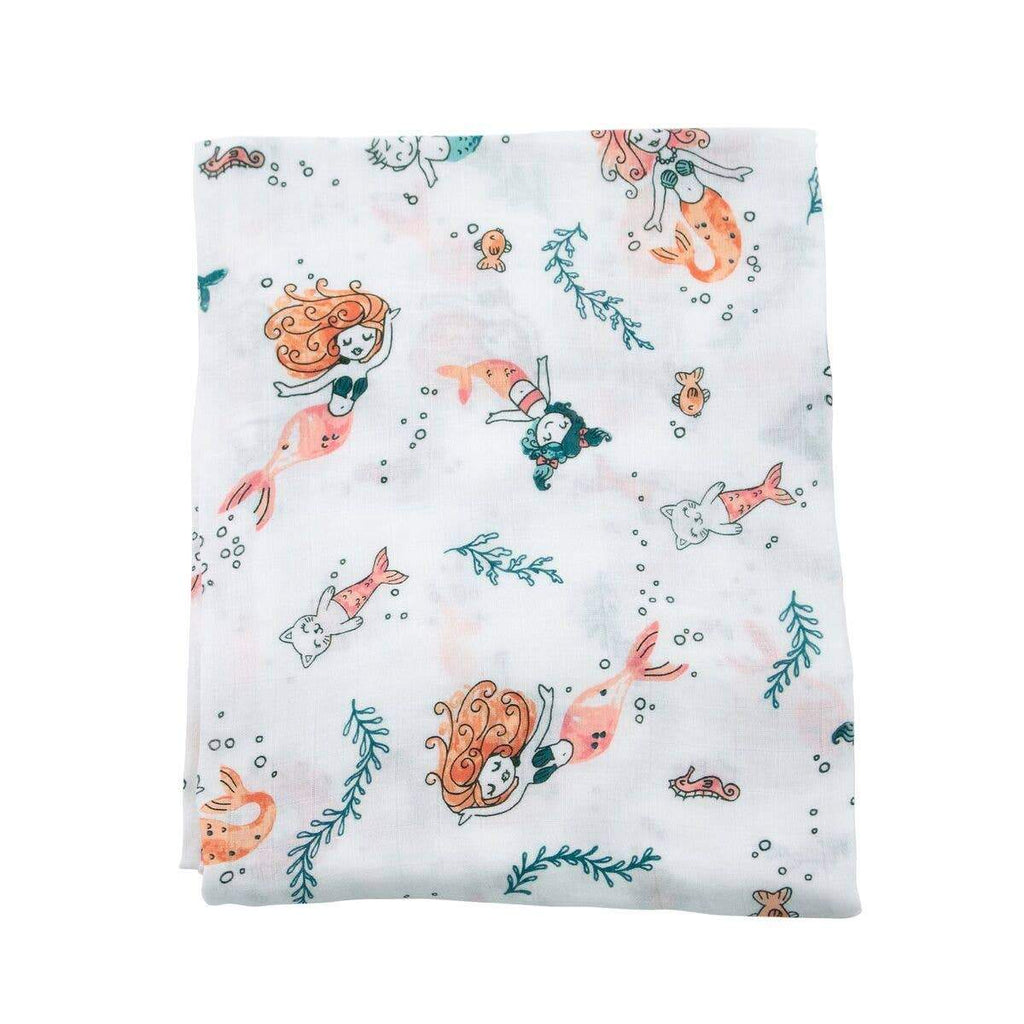 Mermaid Oh-So-Soft Muslin Single Swaddle Blanket - CLT Boutique
