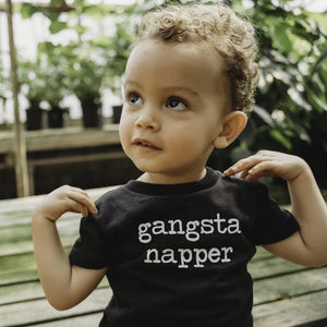 gangsta napper, naps, funny kids shirt, fashion, baby, toddler, style, handmade, gift, etsy