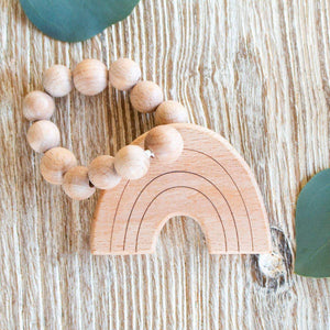 Rainbow Natural Wooden Teether - CLT Boutique