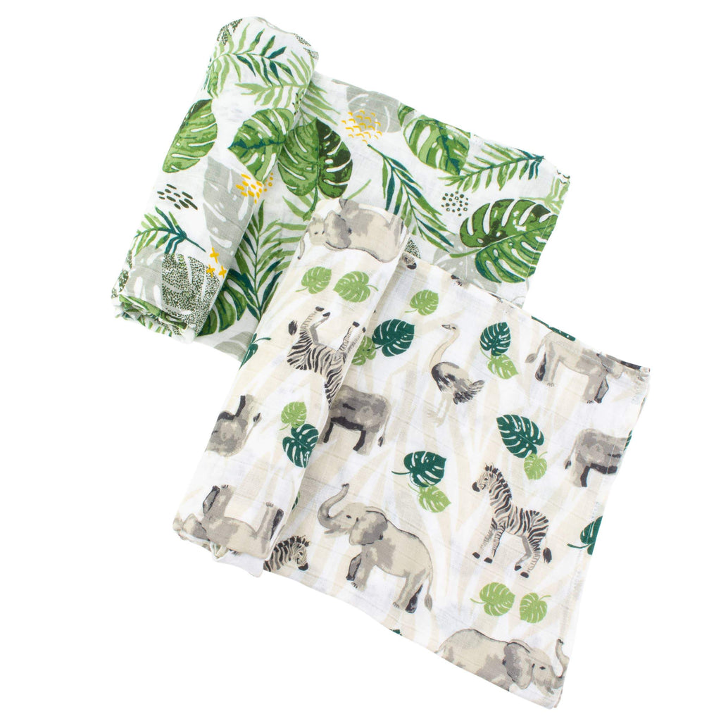 Jungle + Rainforest Classic Muslin Swaddle Blanket Set - CLT Boutique