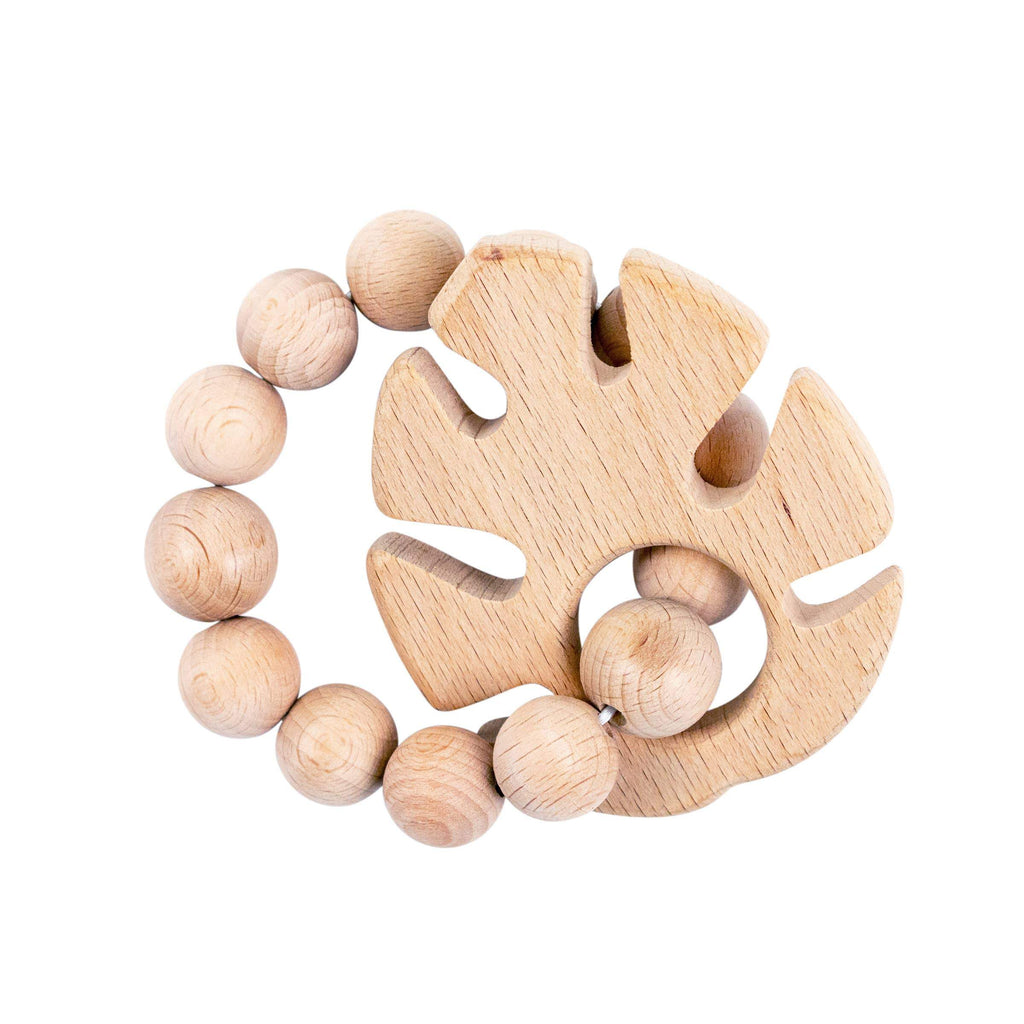 Tropical Leaf Natural Wooden Teether - CLT Boutique