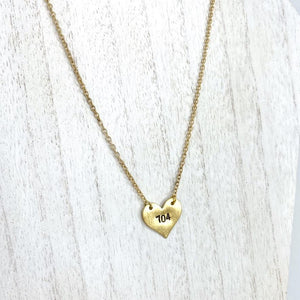 704 Love Hand Stamped Necklace - CLT Boutique