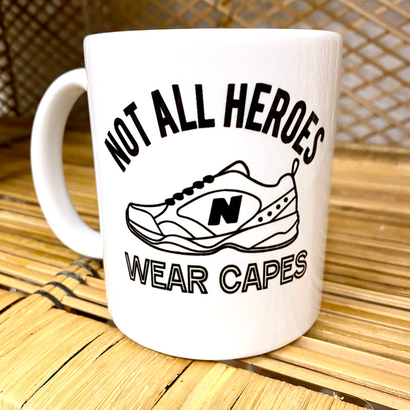 Not All Heroes Wear Capes Dad Mug