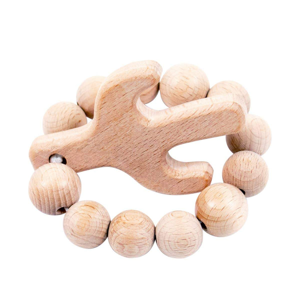 Cactus Natural Wooden Teether - CLT Boutique