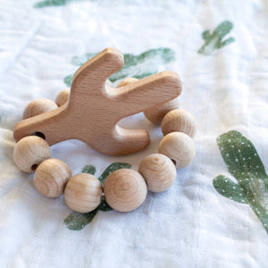 Cactus Natural Wooden Teether