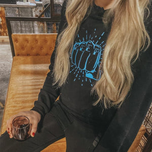 Keep Pounding Crop Hoodie - CLT Boutique