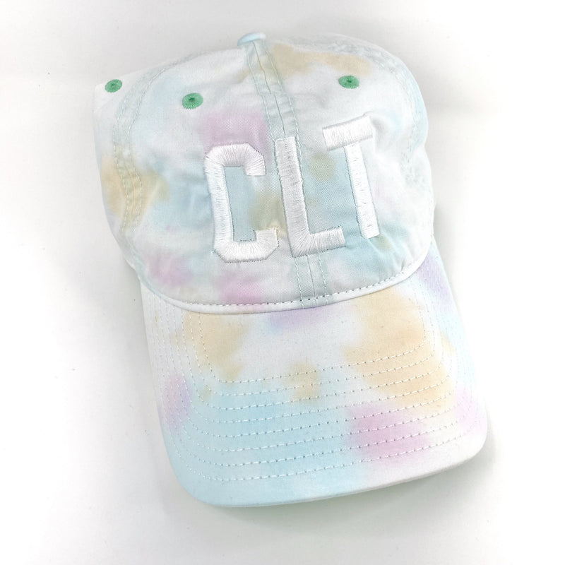Tie Dye CLT Hat - White - CLT Boutique