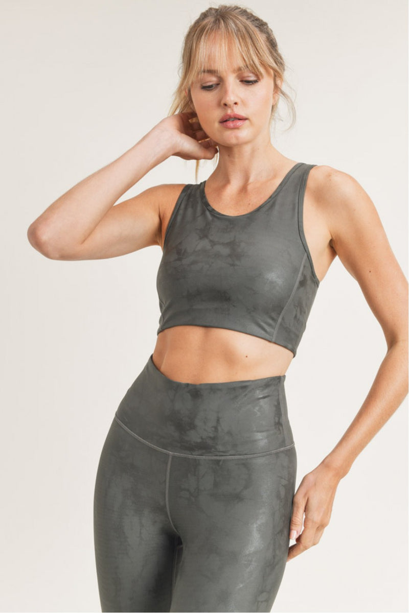 The Olivia Gunmetal Sports Bra