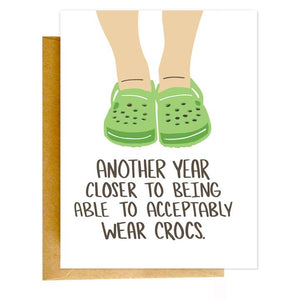 Crocs Birthday Card