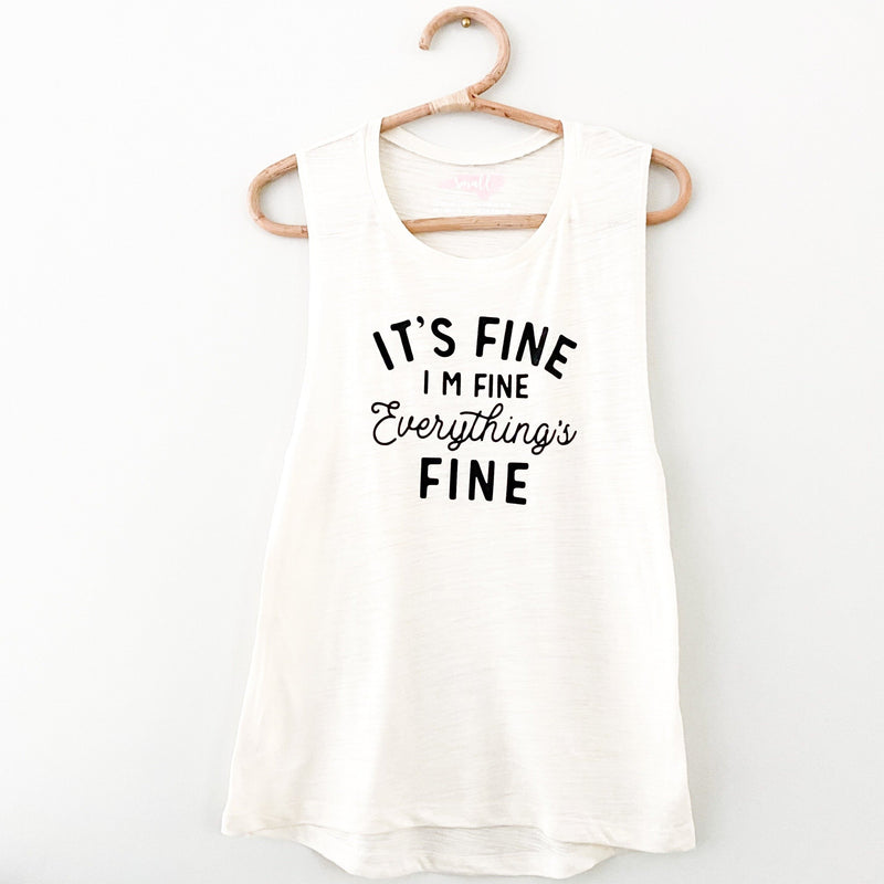 its fine, I'm fine, Everything is fine, funny shirt, workout shirt, gym shirt, athleisure, graphic shirt