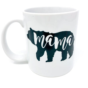 mama bear, mama, mommy, mom, mother, mother's day, gift for mom, new mom, babyshower, babyshower gift, coffee, coffee mug, caffeine, decaf, tea, gift set, handmade, unique, gift for new mom