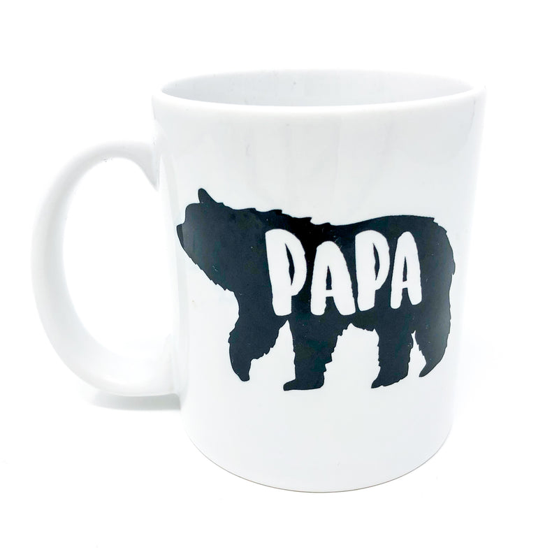 dad, papa, father, daddy, papa bear, new dad, gift for him, gift for dad, mug, mug life, coffee, coffee mug, caffeine, decaf, baby shower gift, unique gift, handmade, mug, custom, gift for new dad, gift set