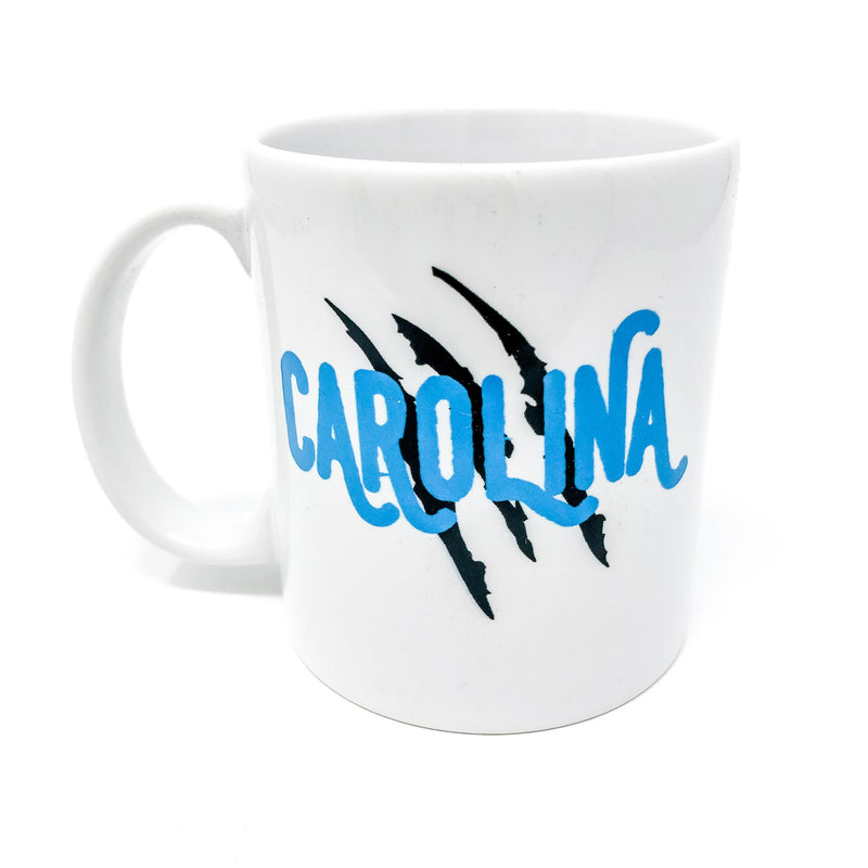 panthers, carolina panthers, mug, nfl, pound it, keep pounding, unique gift, coffee mug, coffee lover, cardiac cats, panthers, tailgate, cat scratch, sir purr, gift