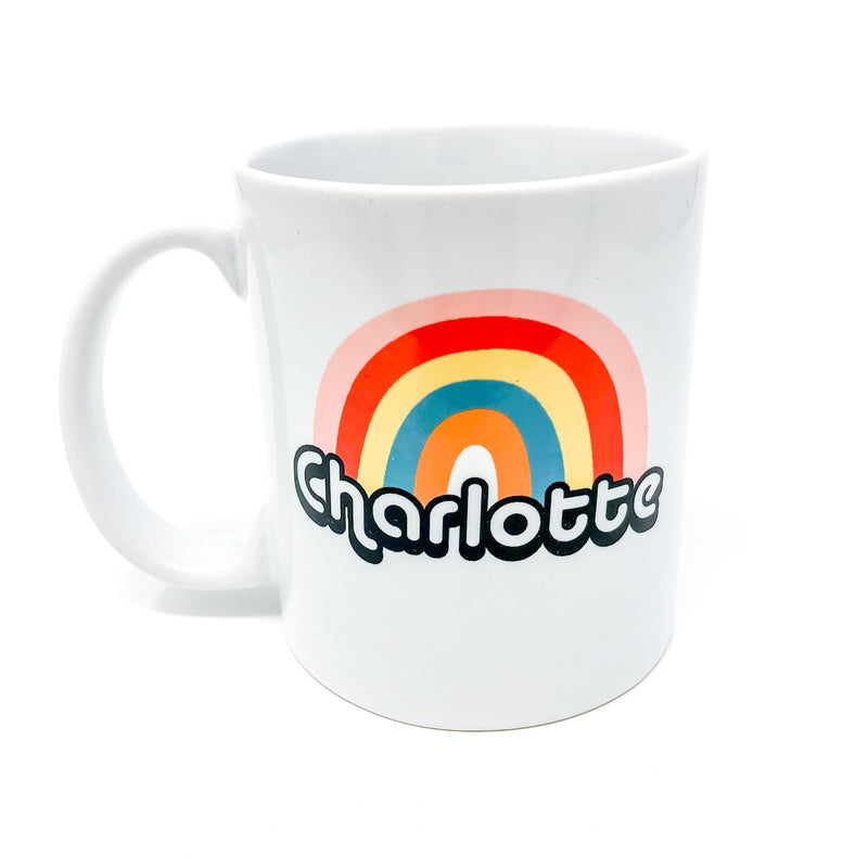 charlotte, nc, north carolina, camp mug, metal mug, coffee lover, clt, 704, queen city, the queen city, queen charlotte, handmade, mug, coffee mug, local, unique gift, coffee lover, LGBTQ, gay, gay pride, pride, inclusion, over the rainbow, gay AF, charlotte is gay, native, gift, mug