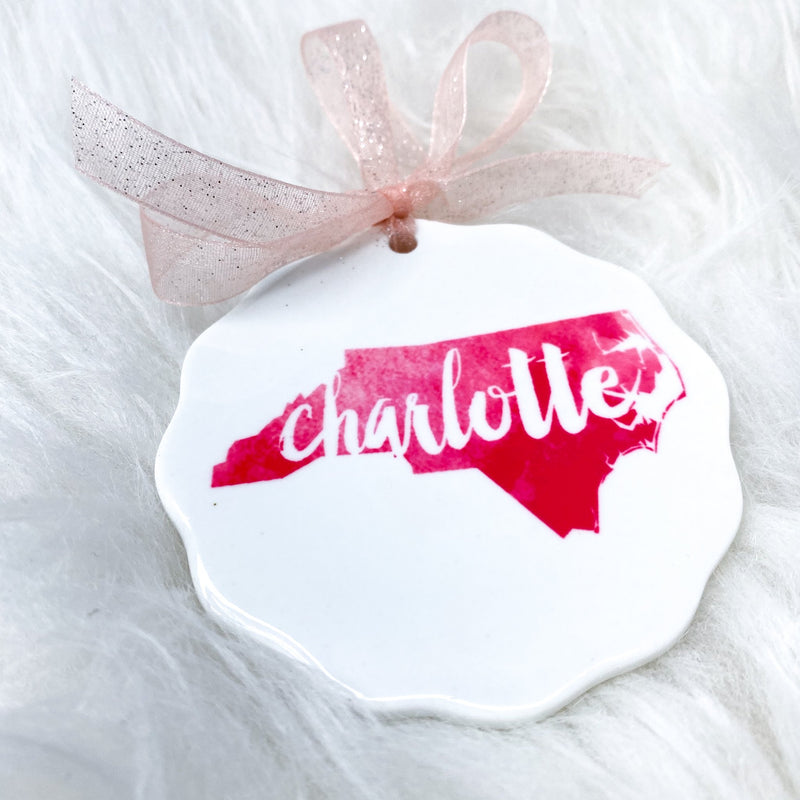 Charlotte Watercolor Ornament