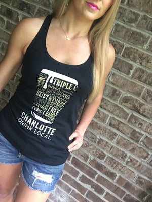 Drink Local Charlotte Beer Tank - CLT Boutique