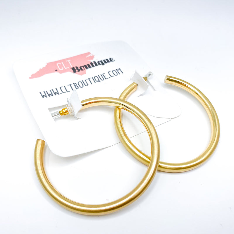 Jackie Gold Tube Hoops